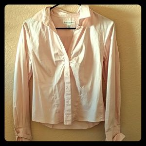 Pink banana republic button down